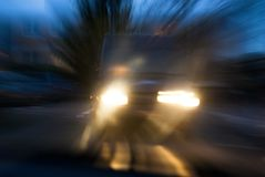 Risk of car accident Stock Image