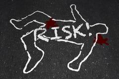 Risk Chalk Outline Dangerous Hazard Injury Death vector illustration