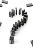 Risk, challenge or uncertainty concept - domino game stones form Royalty Free Stock Photos