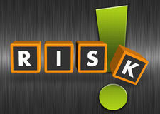 Risk concept. Word risk with an exclamation mark Stock Image