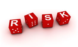 Risk concept with dices Royalty Free Stock Images
