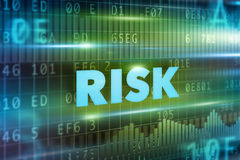 Risk concept. Green background with blue text Royalty Free Stock Photo