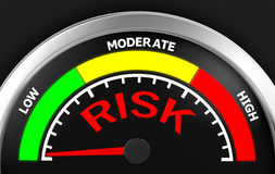Risk. Concept image for illustration of risk in the low meter , 3d rendering Royalty Free Stock Photos