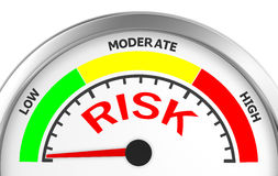 Risk. Concept image for illustration of risk in the low meter , 3d rendering Stock Photography