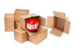 Risk concept. There is no infringement of trademark copyright Royalty Free Stock Images