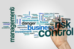 Risk control word cloud Stock Photography
