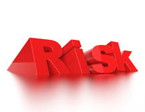 Risk 3d word concept Stock Images