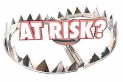 At Risk Danger Safety Bear Trap Words. 3d Illustration Royalty Free Stock Images
