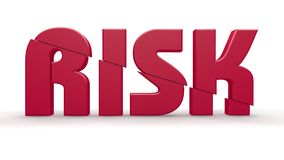 Risk design Stock Image