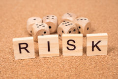 RISK and dices Stock Photography