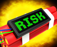 Risk On Dynamite Shows Unstable Situation Or Dangerous. Risk On Dynamite Showing Unstable Situation Or Dangerous Royalty Free Stock Images