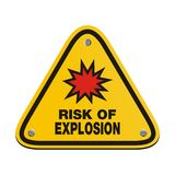 Risk of explosion - triangle sign Royalty Free Stock Images