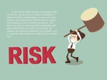 Risk för dundersuccé för affärsman med den rubber klubban Royaltyfri Foto