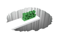 risk för lätta pengar royaltyfri illustrationer