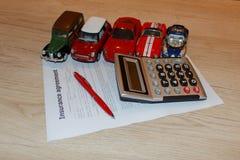 Risk för reklamation för olycka för täckning för säkerhet för bilförsäkringpolitik Royaltyfria Bilder