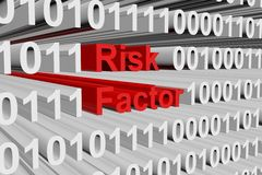 Risk factor. In the form of binary code, 3D illustration Royalty Free Stock Photography