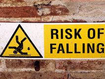 Risk of falling Royalty Free Stock Photography