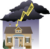 Risk of foreclosure Stock Images