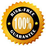 Risk free guarantee label. Isolated on white Vector Illustration