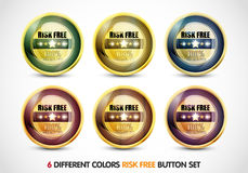 Risk Free Guaranteed Button Set Stock Photography