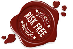 Risk free label seal Royalty Free Stock Image