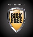 Risk free. Over black background vector illustration Royalty Free Stock Image