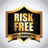 Risk free. Over gray background vector illustration Royalty Free Illustration
