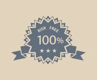 Risk free retro label Royalty Free Stock Photos