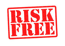 RISK FREE. Rubber Stamp over a white background Stock Photo