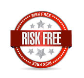 Risk free seal illustration design Stock Photography