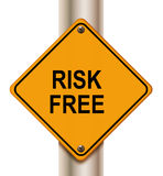 Risk free sign Stock Image
