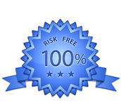 Risk Free Sign. 100 % Risk Free Sign. Vector illustration Royalty Free Stock Photos