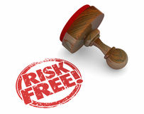 Risk Free Stamp Safe Secure Choice Words Royalty Free Stock Images