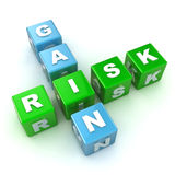 Risk / Gain Crossword Royalty Free Stock Photo