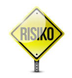 Risk german road sign illustration design Royalty Free Stock Photos