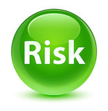 Risk glassy green round button Royalty Free Stock Photography