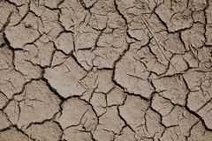 Risk of global warming - dry soil with cracks. stock image