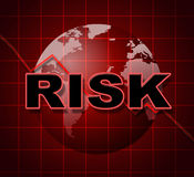 Risk Graph Shows Infochart Beware And Risky Royalty Free Stock Photo