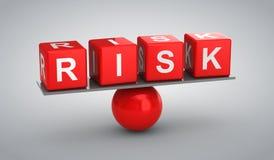 Risk. Gray background, 3d render Stock Images