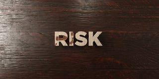 Risk - grungy trärubrik på lönn - 3D framförd fri materielbild för royalty Royaltyfri Fotografi