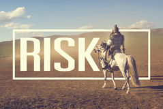 Risk Insecurity Uncertainly Battlefield Danger Concept.  Stock Photography