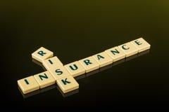 Risk insurance blocks Royalty Free Stock Photos