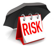 Risk Insurance. Risk Consept with Umbrella. 3D Rendering Royalty Free Stock Images