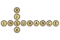 Risk and insurance crossword Royalty Free Stock Photos