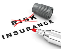 Risk and insurance. 3d generated picture of an insurance concept royalty free illustration