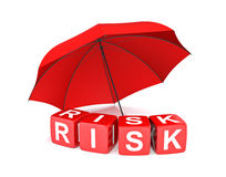 Risk Insurance. 3D rendering image Stock Photography