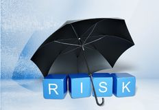 Risk. Insurance organization security protection umbrella safety stock illustration