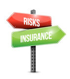 Risk and insurance road sign illustration design Royalty Free Stock Photo