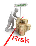 Risk in Investment. 3D conept Stock Photography