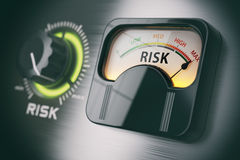 Risk of investment strategy concept. Swith knob positioned on ma Royalty Free Stock Images